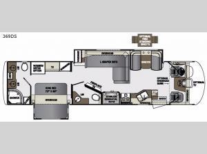 Georgetown XL 369DS Floorplan Image
