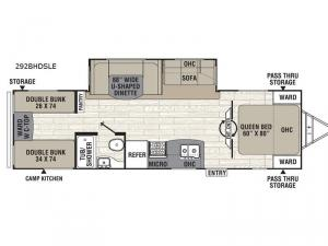 Freedom Express Liberty Edition 292BHDSLE Floorplan Image