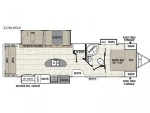 Freedom Express Maple Leaf Edition 322RLDSLE Floorplan Image