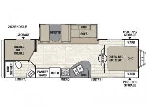 Freedom Express Maple Leaf Edition 282BHDSLE Floorplan Image