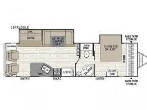 Freedom Express Maple Leaf Edition 297RLDSLE Floorplan Image