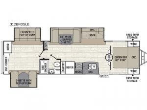Freedom Express Maple Leaf Edition 312BHDSLE Floorplan Image