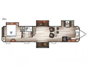 Cherokee Destination Trailers 39CL Floorplan Image