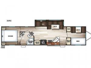 Cherokee Destination Trailers 39RE Floorplan Image