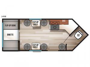 Cherokee Grey Wolf 14NB Floorplan Image
