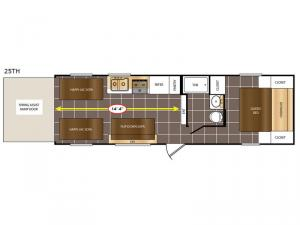 Avenger 25TH Floorplan Image