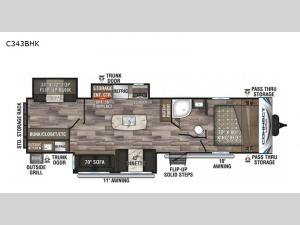 Connect C343BHK Floorplan Image