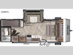 Salem Cruise Lite 230BHXL Floorplan Image