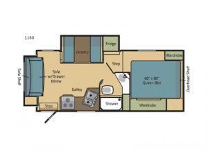 Eagle Cap 1160 Floorplan Image