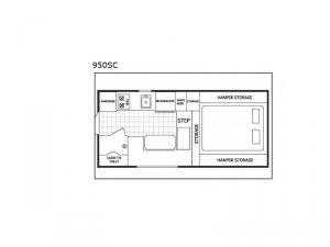 Northstar Pop-Up 950SC Floorplan Image