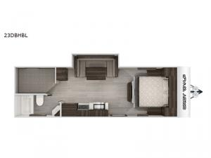 Cherokee Grey Wolf Black Label 23DBHBL Floorplan Image
