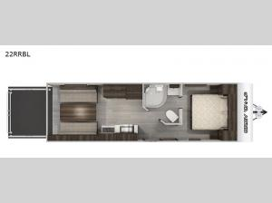 Cherokee Grey Wolf Black Label 22RRBL Floorplan Image