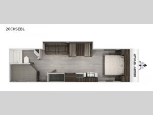 Cherokee Grey Wolf Black Label 26CKSEBL Floorplan Image