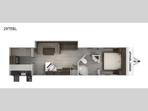 Cherokee Grey Wolf Black Label 29TEBL Floorplan Image