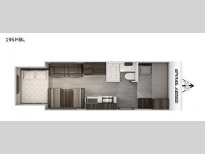 Cherokee Grey Wolf Black Label 19SMBL Floorplan Image