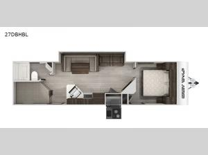 Cherokee Grey Wolf Black Label 27DBHBL Floorplan Image