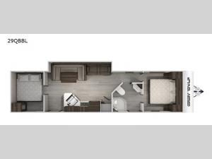 Cherokee Grey Wolf Black Label 29QBBL Floorplan Image