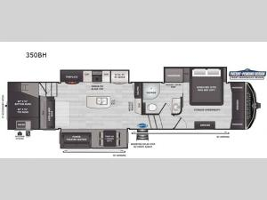 Montana High Country 350BH Floorplan Image