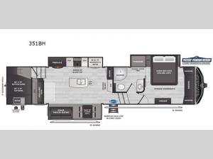 Montana High Country 351BH Floorplan Image