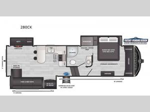 Montana High Country 280CK Floorplan Image