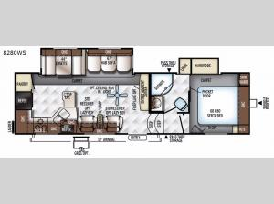 Rockwood Signature Ultra Lite 8280WS Floorplan Image