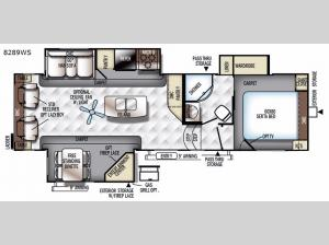 Rockwood Signature Ultra Lite 8289WS Floorplan Image