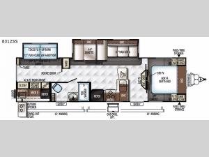 Rockwood Signature Ultra Lite 8312SS Floorplan Image