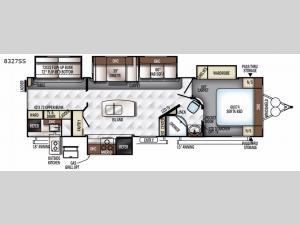 Rockwood Signature Ultra Lite 8327SS Floorplan Image