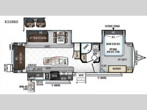 Rockwood Signature Ultra Lite 8328BS Floorplan Image