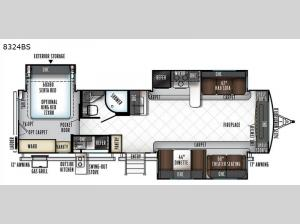 Rockwood Signature Ultra Lite 8324BS Floorplan Image