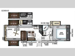 Rockwood Signature Ultra Lite 8298WS Floorplan Image