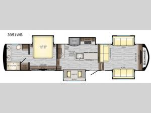 Redwood 3951WB Floorplan Image