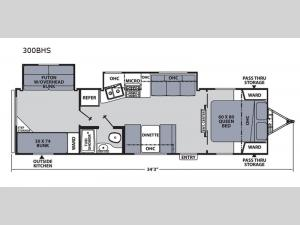 Apex Ultra-Lite 300BHS Floorplan Image