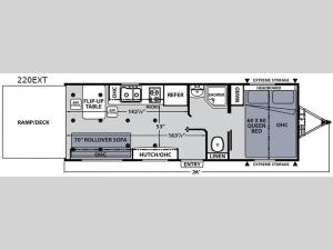 Apex Ultra-Lite 220EXT Floorplan Image