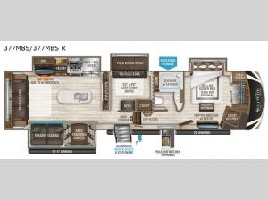 Solitude 377MBS R Floorplan Image