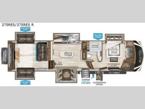 Solitude 375RES R Floorplan Image