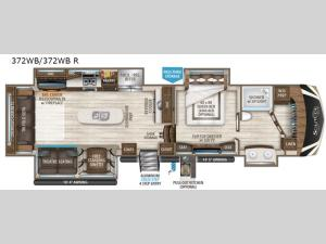 Solitude 372WB Floorplan Image