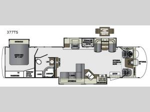 Georgetown XL 377TS Floorplan Image