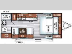 Salem Cruise Lite FSX 187RB Floorplan Image