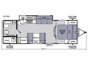 Apex Ultra-Lite 251RBK Floorplan Image