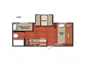 Ameri Lite Super Lite 19 DS Floorplan Image