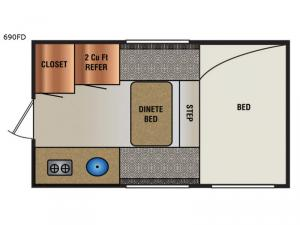 Super Lite 690FD Floorplan Image