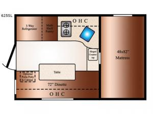 Super Lite 625SL Floorplan Image