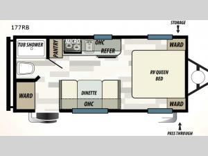 Wildwood FSX 177RB Floorplan Image