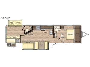 Sunset Trail Super Lite SS330BH Floorplan Image
