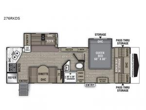 Freedom Express Ultra Lite 276RKDS Floorplan Image