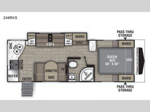 Freedom Express Ultra Lite 246RKS Floorplan Image