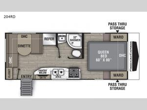 Freedom Express Ultra Lite 204RD Floorplan Image