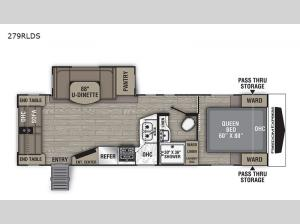 Freedom Express Ultra Lite 279RLDS Floorplan Image
