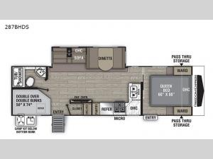 Freedom Express Ultra Lite 287BHDS Floorplan Image